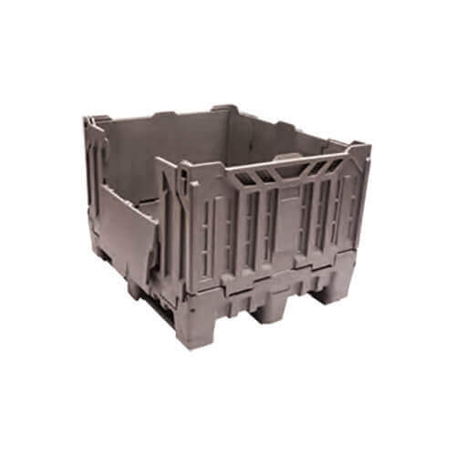 735 Litre Foldable Non-Vented pallet bin grey