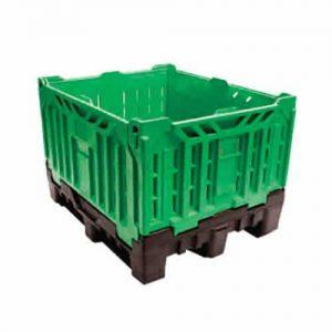 735 Litre Foldable Vented pallet bin green
