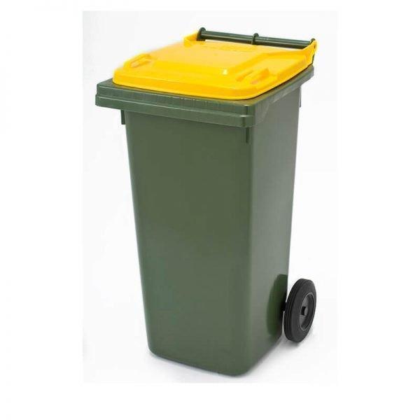 120 litre green wheelie bin