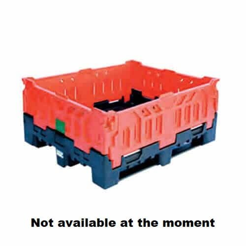 430 Litre Foldable Vented pallet bin red