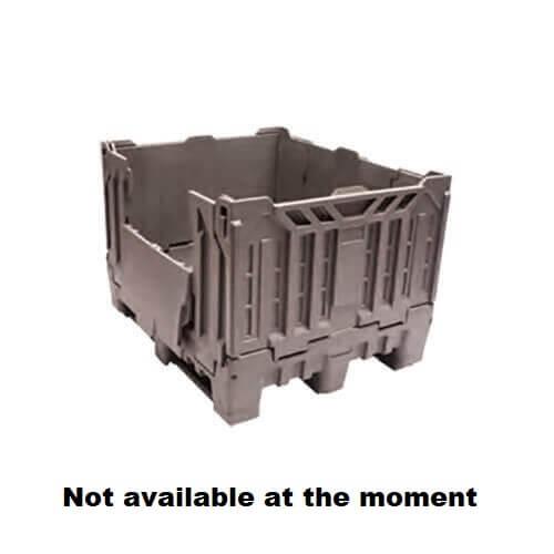 735 Litre Foldable Non Vented pallet bin grey