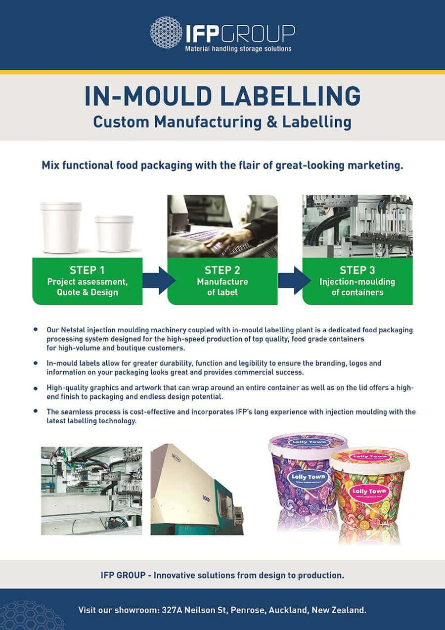IFP Group NZ Plastic Storage In-mold Labelling