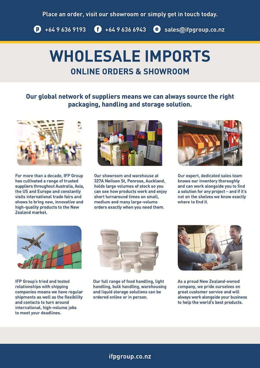 IFP Group NZ Plastic Storage Products Wholesale Imports