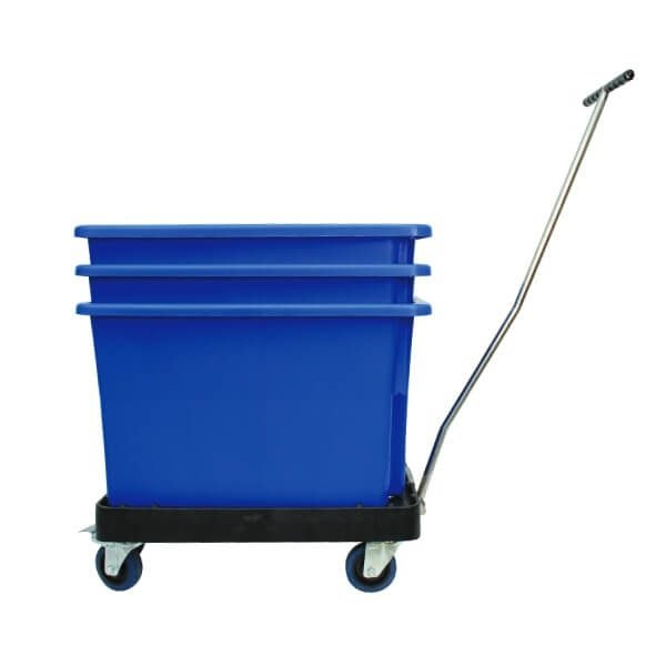 handle skates with blue bins