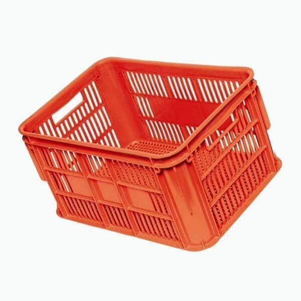 Orange Vented Food Crate 1