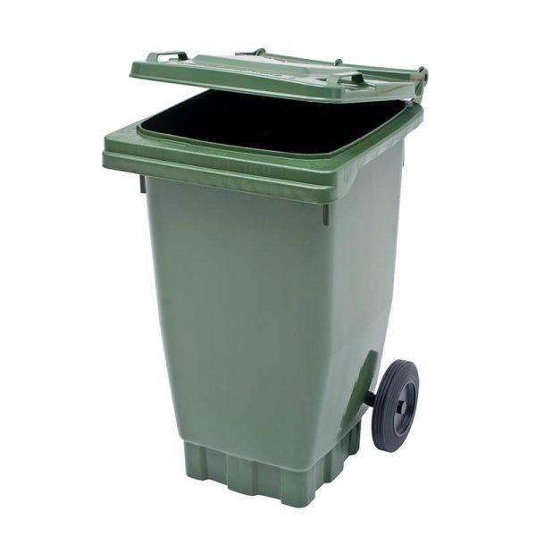 80 litre green wheelie bin