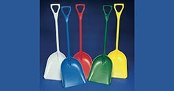 Heavy duty plastic shovels