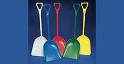 Heavy duty plastic shovels
