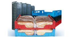 Stamped plastic bread crates NZ