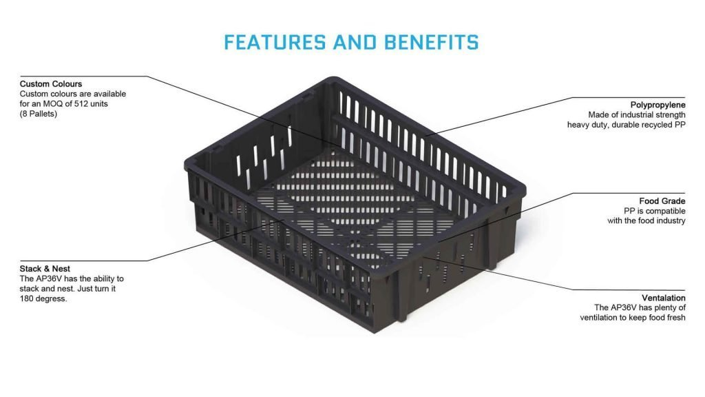 Vented Crate 36 Litre Features