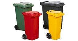 Wheelie bins waste management