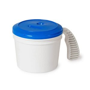 Collection container base with standard lid