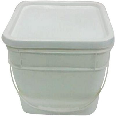 Pail Square 10 Litre White Space Saver