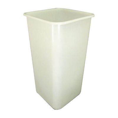 Square Bin 100 Litre White