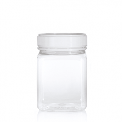 Jar PET Square 1kg/817ml Clear
