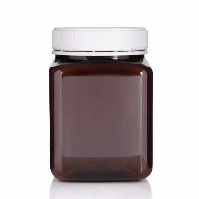 Jar PET Square 2 Kg/1600ml Amber