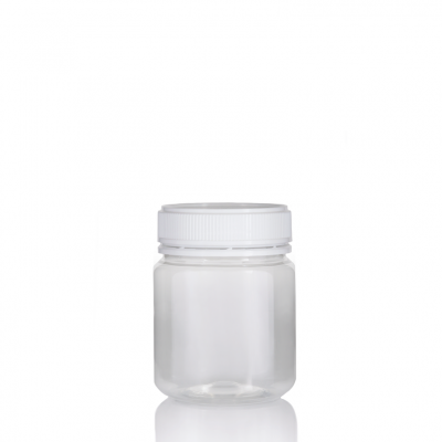 Jar PET Round 340g/312ml Clear 60mm neck
