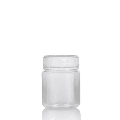 Jar PET Round 340g/312ml Clear 60mm neck