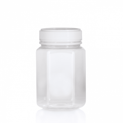 Jar PET Hex 500g/400ml Clear