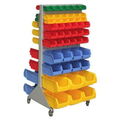 Mobile Trolley Free Standing Louvered Panel Rack