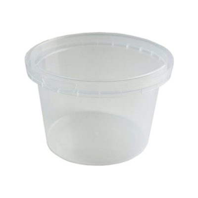 Tub Round 460ml Tamper Evident Clear
