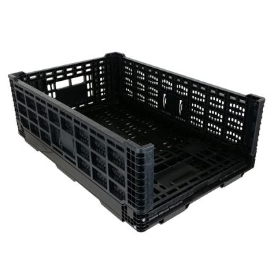 Collapsible-crate-one-side-folded