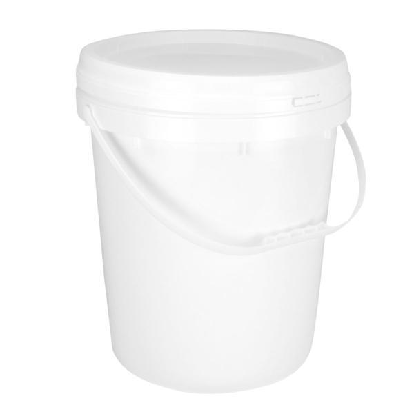 18048800101 20L Round Pail White Plastic Handle