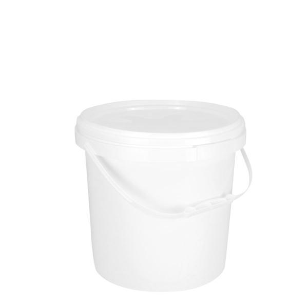 18048500101 10L Round Pail White Plastic Handle