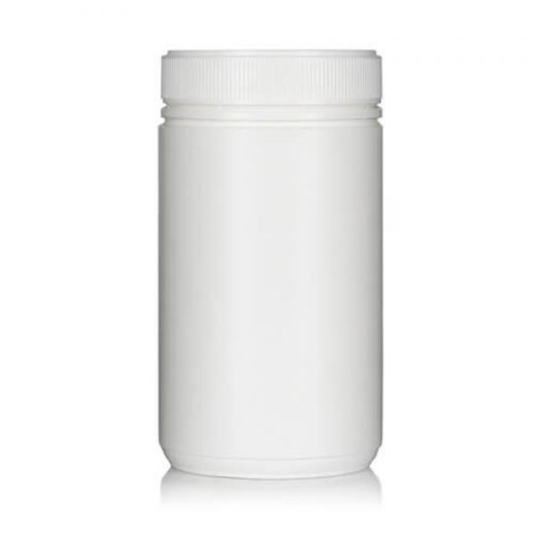 Powder Pot White Twin Start 1100ml T/E 100mm neck