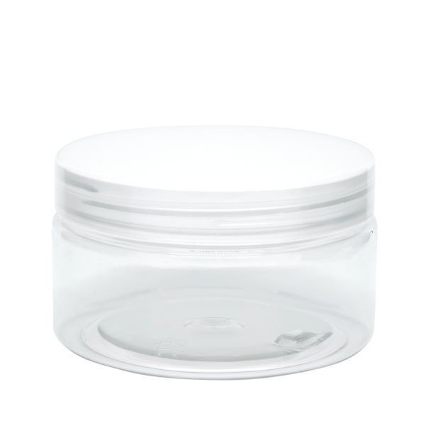 18236370100 Cosmetic Pot 200gm PET (Clear)-1
