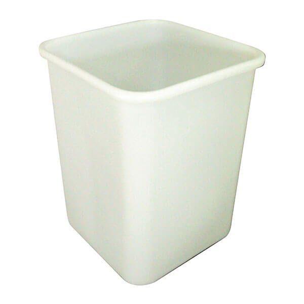 Square Bin 60 Litre White