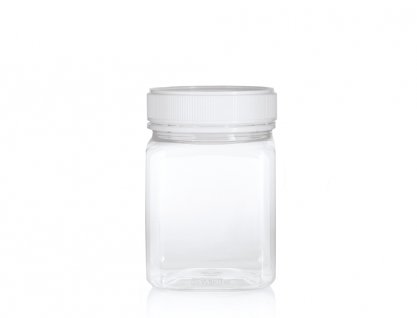 Jar PET Square 1kg/817ml Clear
