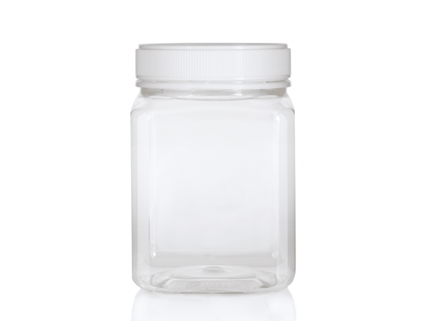 Jar PET Square 2 Kg/1600ml Clear
