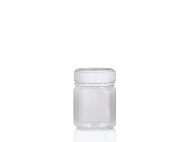 Jar PET Round 250g/200ml Clear 57mm neck