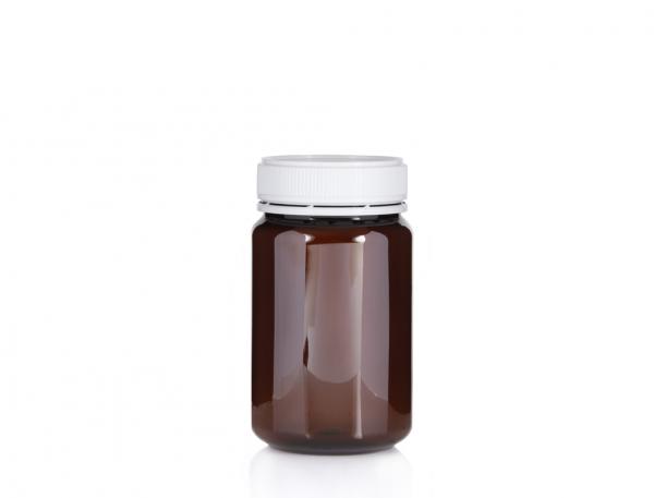 Jar PET Round 500g/400ml Amber 60mm neck
