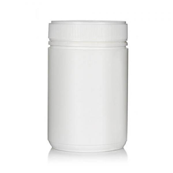 Powder Pot White Twin Start 600ml T/E 83mm neck
