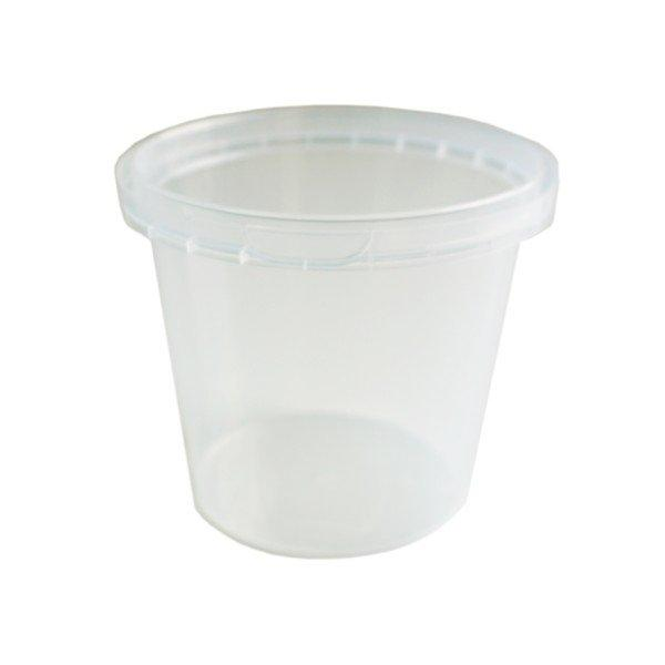 Tub Round 690ml Tamper Evident Clear