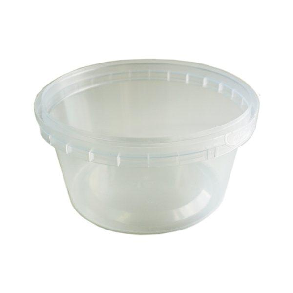 Tub Round 300ml Tamper Evident Clear