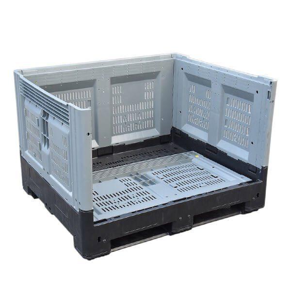 Foldable Pallet Bin Vented Rapid Range 700 Litres